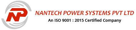 A Rectangular Box In White And Red Shades, The Nantech Power System Priavte System's Logo, Text And ISI Certified Company Mentioned.