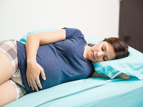 Pregnant Woman Sleeping Position.