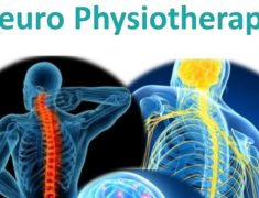 Three Human Skeleton Images That Depicts Different Neuro Problems - A Text Neuro Physiotherapy Have Written In Top.